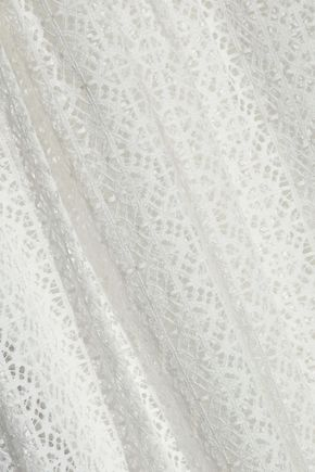 TEMPERLEY LONDON Gathered lace maxi dress