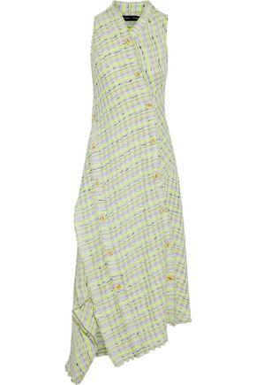 PROENZA SCHOULER Wrap-effect button-detailed tweed midi dress