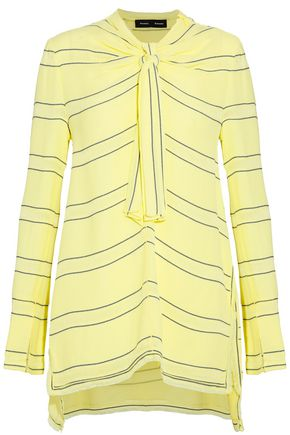 PROENZA SCHOULER Knotted striped crepe top