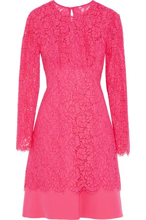 MIKAEL AGHAL Layered corded lace and cady dress