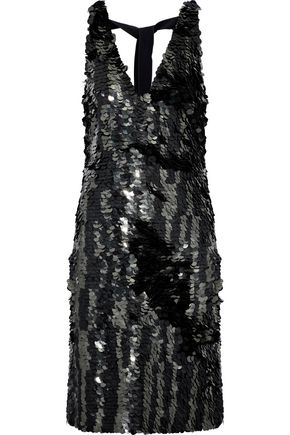 PROENZA SCHOULER Sequined silk crepe de chine dress