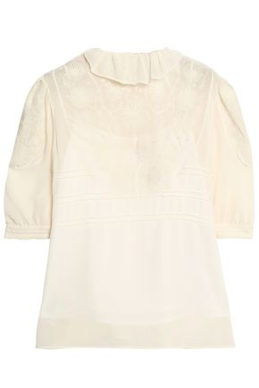 embroidered-crinkled-crepe-de-chine-blouse by see-by-chloÉ