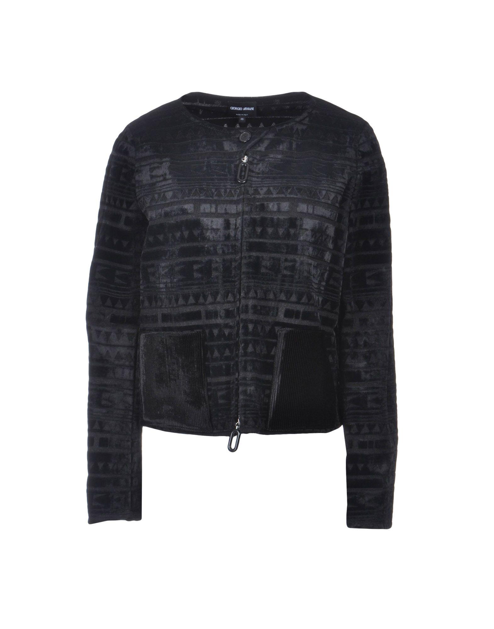 《セール開催中》GIORGIO ARMANI レディース テーラードジャケット ブラック 40 70% レーヨン 30% ナイロン