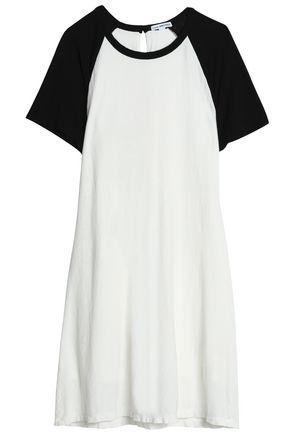 James Perse Woman Two-tone Cotton And Linen-blend Jersey Mini Dress Off-white Size 1 James Perse jYdm4MoRzT