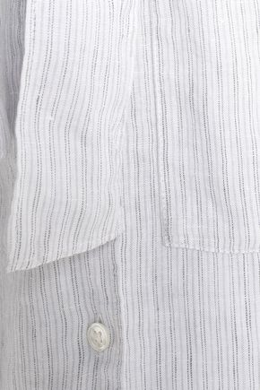 78c170e842 ... JAMES PERSE Striped linen shirt dress ...