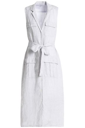 34779b3942 JAMES PERSE Striped linen shirt dress ...