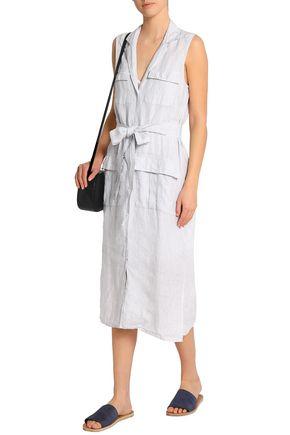 010ed6c49ef ... JAMES PERSE Striped linen shirt dress ...