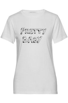 J BRAND Printed Pima cotton-jersey T-shirt