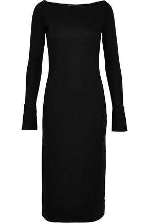 HELMUT LANG Cutout wool-blend jersey dress