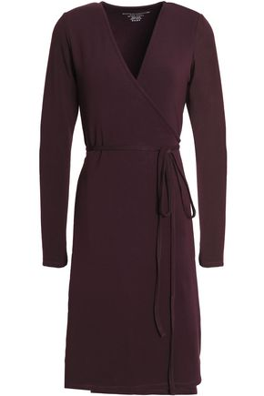 MAJESTIC FILATURES Wrap-effect stretch-jersey dress