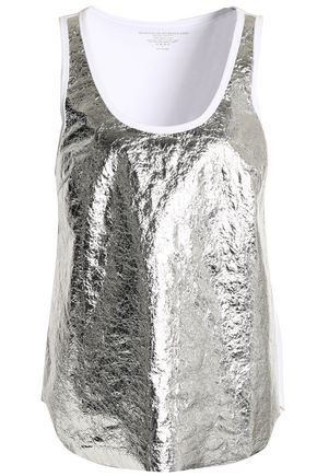 MAJESTIC FILATURES Paneled metallic cotton top