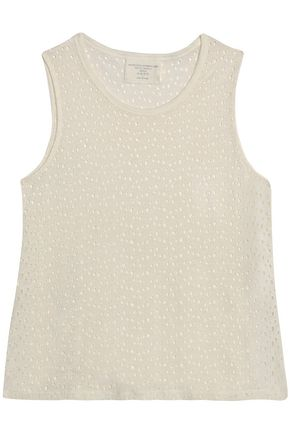 MAJESTIC FILATURES Laser-cut linen top