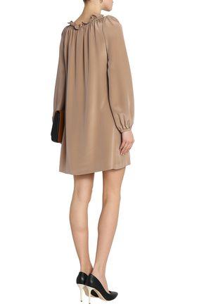 GOAT Ruffle-trimmed wool mini dress
