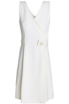 GOAT Wrap-effect wool dress