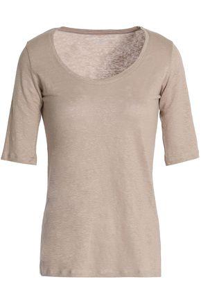 MAJESTIC FILATURES Slub linen-blend jersey T-shirt
