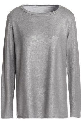 MAJESTIC FILATURES Metallic stretch-jersey top
