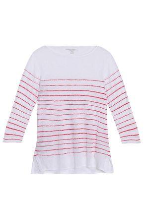 MAJESTIC FILATURES Striped slub linen-jersey top