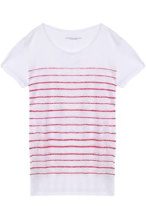 MAJESTIC FILATURES Striped slub linen-jersey T-shirt