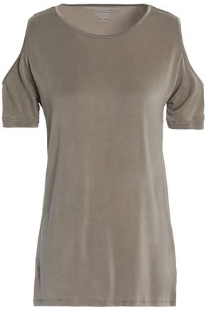MAJESTIC FILATURES Cold-shoulder jersey top