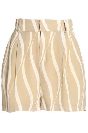 TOTÊME Printed crepe shorts