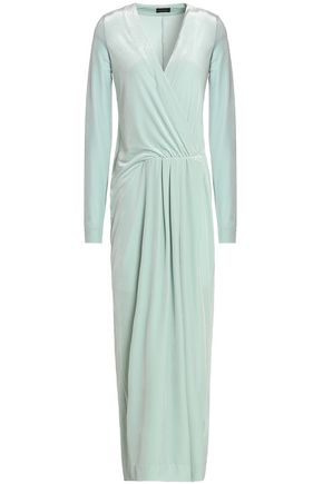 BY MALENE BIRGER Wrap-effect chenile maxi dress