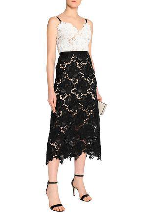 CATHERINE DEANE Frida two-tone guipure lace midi dress