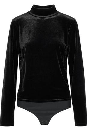 ELIE TAHARI Didi velvet turtleneck bodysuit