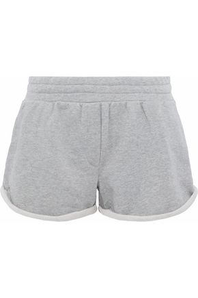 T by ALEXANDER WANG Mélange French cotton-blend terry shorts