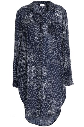SPLENDID Printed crepe de chine tunic