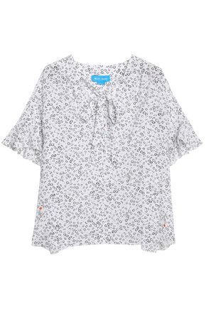 M.I.H JEANS Dawes pussy-bow floral-print silk blouse