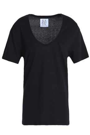 ZOE KARSSEN Cotton-blend jersey T-shirt