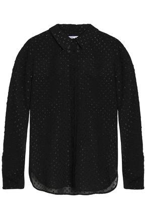 ZOE KARSSEN Metallic fil coupé chiffon shirt