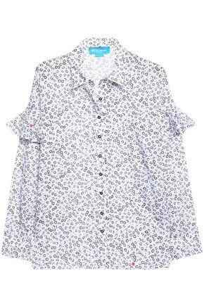 M.I.H JEANS Baylis ruffle-trimmed floral-print cotton-gauze shirt
