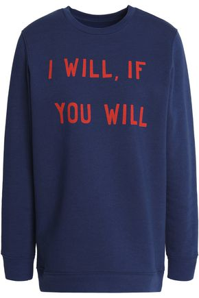 ZOE KARSSEN Printed cotton-blend sweatshirt
