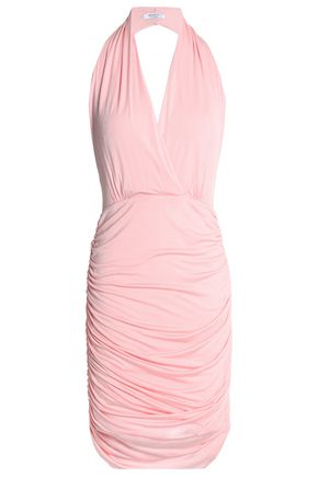 BAILEY 44 Ruched jersey halterneck mini dress