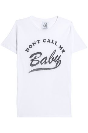 ZOE KARSSEN Printed cotton and modal-blend jersey T-shirt