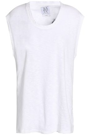 ZOE KARSSEN Printed slub cotton-jersey T-shirt