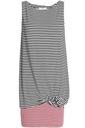 BAILEY 44 Layered striped stretch-jersey mini dress