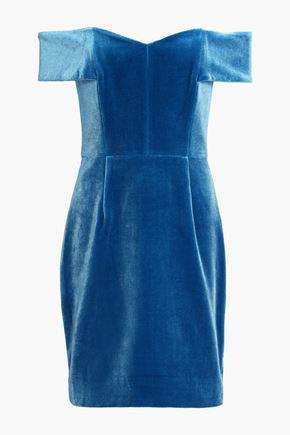 NICHOLAS Off-the-shoulder velvet mini dress