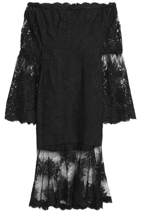 NICHOLAS Off-the-shoulder corded lace dress