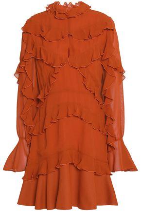 NICHOLAS Ruffled silk-chiffon mini dress