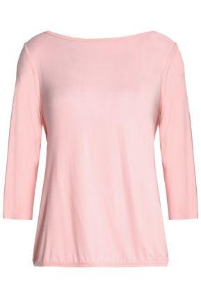 BAILEY 44 Draped wrap-effect silk-jersey top