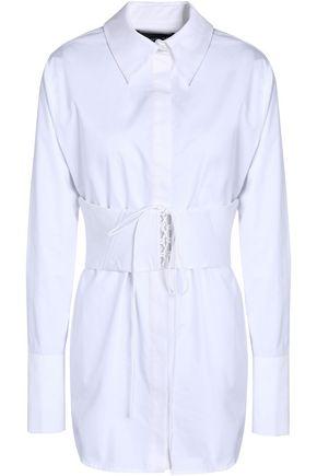 NICHOLAS Belted cotton-poplin shirt
