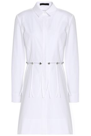 ALEXANDER WANG Cutout cotton-poplin mini dress