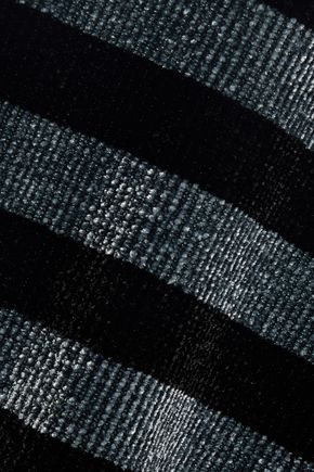 ALEXANDER WANG Metallic striped chenille polo shirt