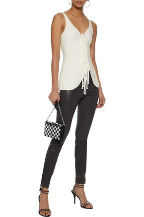 ALEXANDER WANG Lace-up ponte top