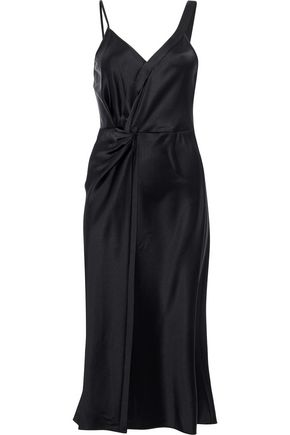 Twist Front Satin Dress by T By Alexander Wang