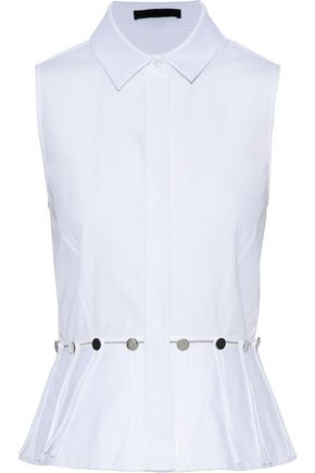 ALEXANDER WANG Cutout cotton-poplin top
