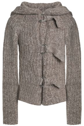 SEE BY CHLOÉ Marled ribbed-knit hooded cardigan