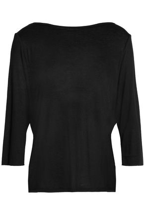 BAILEY 44 Draped wrap-effect silk-jersey top